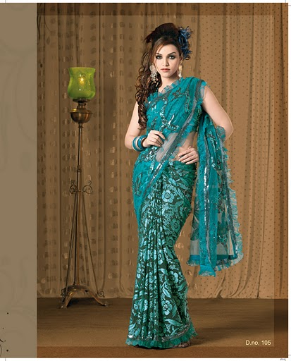 [Sea+Green+Color+Casual+Saree.jpg]