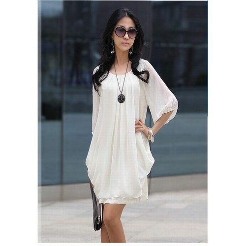 Model Womens Sexy Bohemia Sleeves Beach Butterfly Print Chiffon Long Summer Dress New | EBay