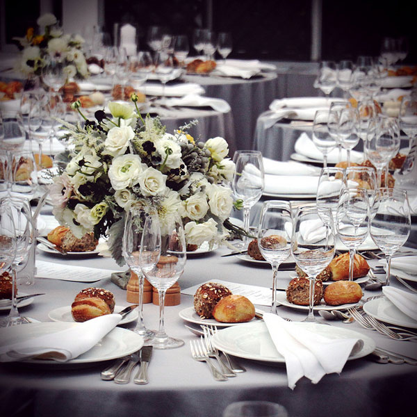 Beautiful colour scheme for this wedding Love the table settings