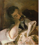 A reading man