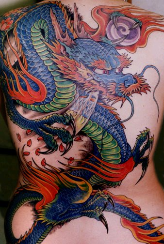 tattoos dragon. pictures of dragon tattoos.