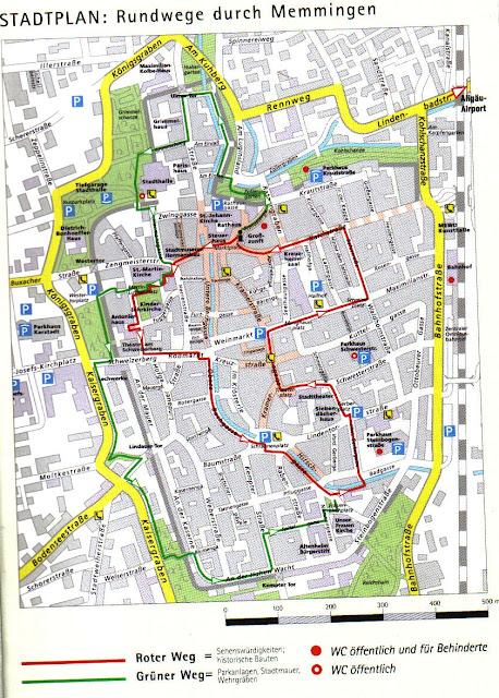 mapa de memmingen