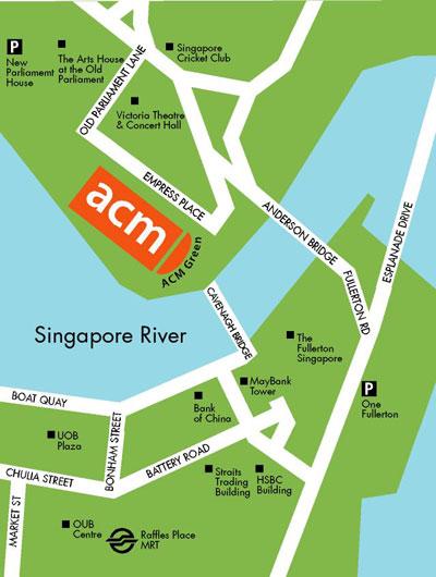 Mapa museo civilizaciones antiguas singapur