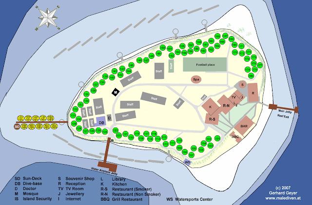 Mapa Hotel Velidhu Maldivas