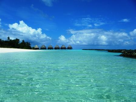 Water villas en las Maldivas