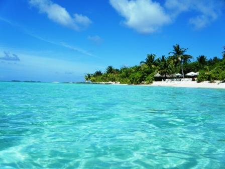 Turquesas aguas del Indico Maldivas