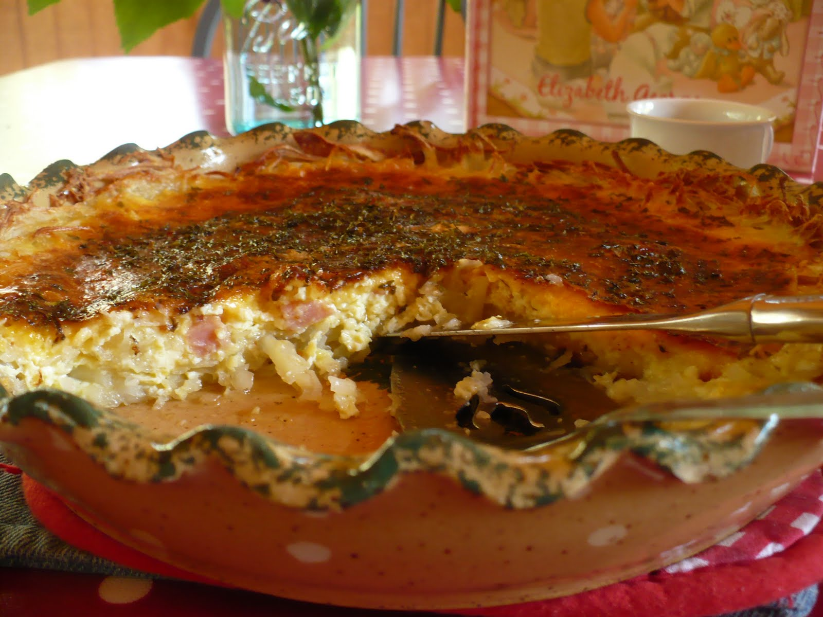 the homespun heart: Meat and Potato Quiche