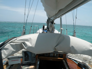 Heading out through the reef