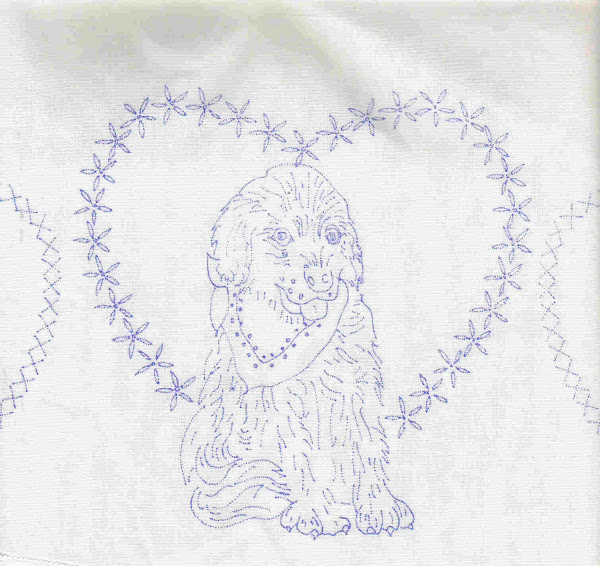 Pillow Case with Stamped Embroidery Picture
