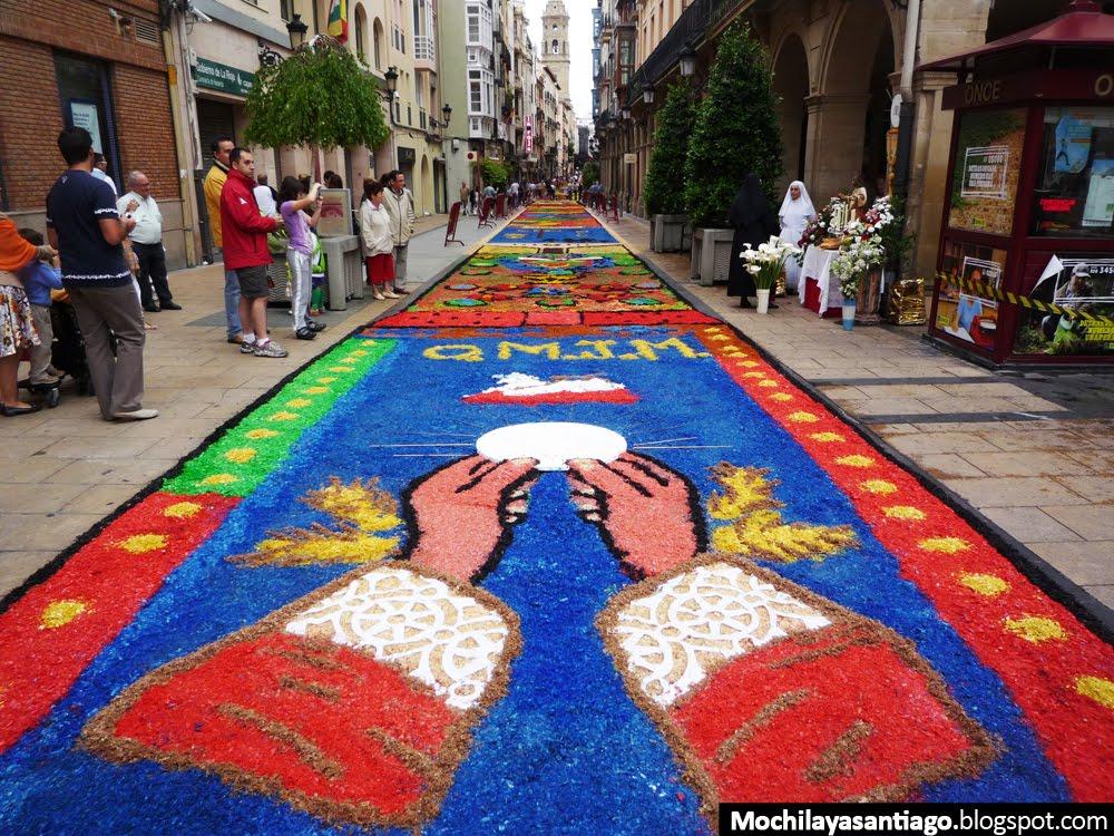 Mochila y a santiago etapa 8 de viana a navarrete - Dibujos para alfombras ...