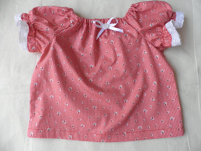 baby peasant blouse