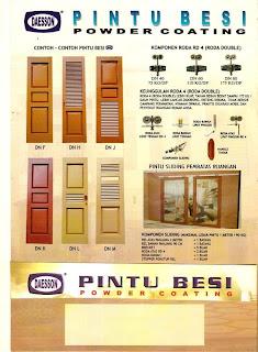 komponen pintu sistem dorong tikung dan lipat komponen pintu sistem