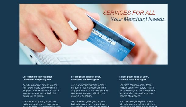 Credit Card Business CSS Website Template