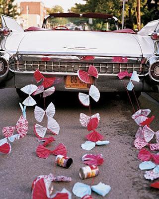 Свадебные кольца на машину своими руками