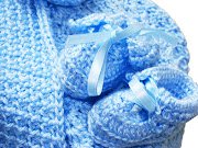 We just added a new section to our. Finest ExpressionsBaby Boutique, (baby blue crochet blanket gift set )