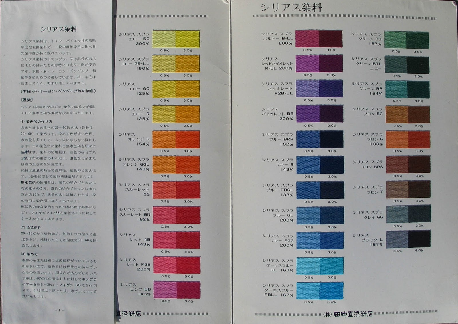 Magic of light mystery of shadows tanaka nao dye color charts sirius color chart using both 5 and 30 dye strength click to enlarge color chart nvjuhfo Images