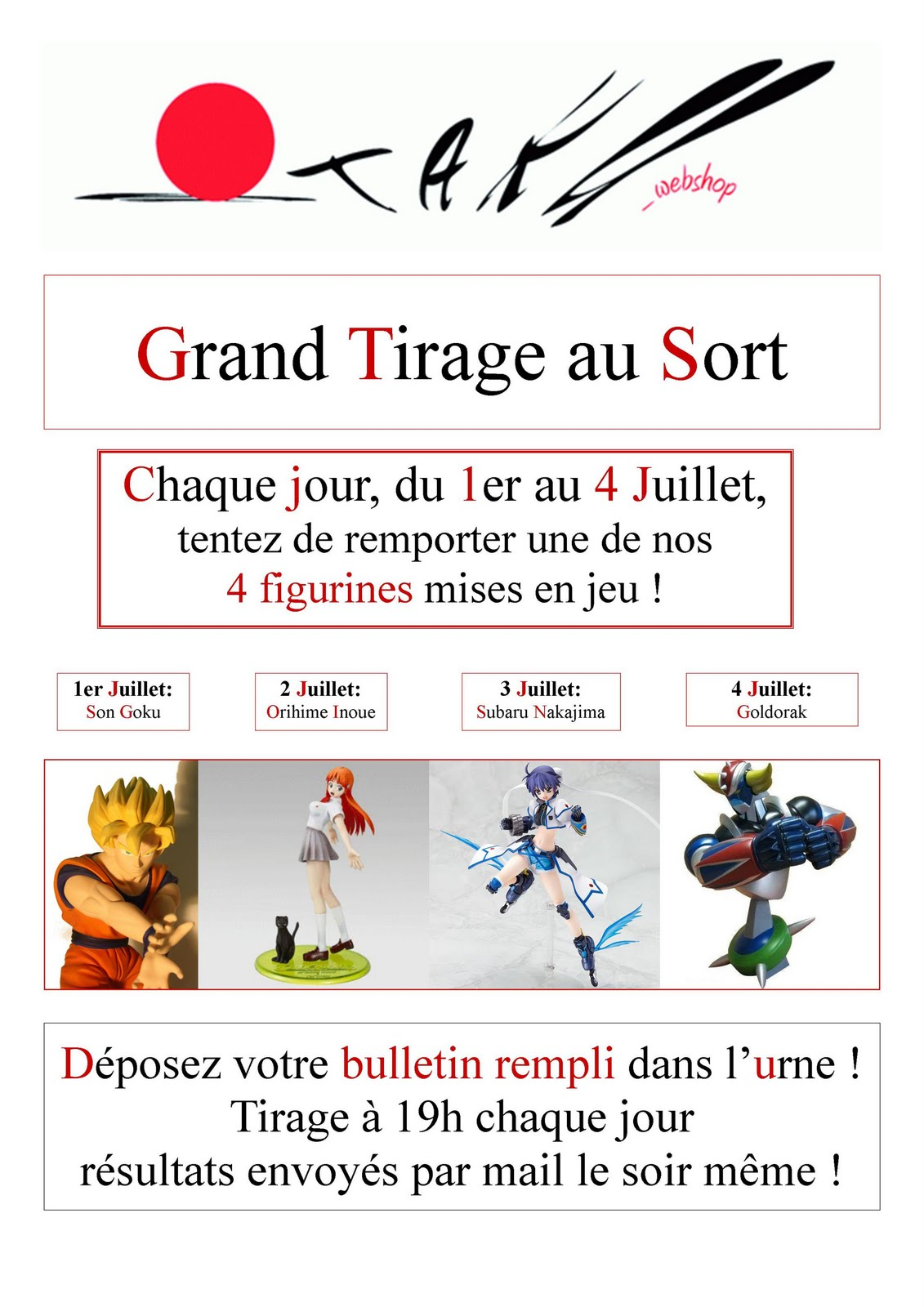 Otaku weblog des figurines gagner japan expo - Tirage au sort cadeau de noel ...