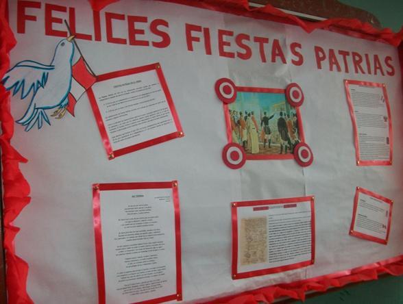 Bolet n juanpablista murales patrios for Diario mural fiestas patrias chile