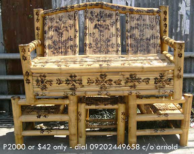 Bamboo Living Room  on Bedroom Bamboo Furniture In Cebu Is Worth P1500 Only