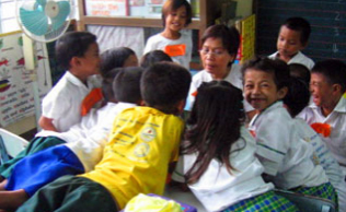 Amway Philippines donated a storytelling corner, which was unveiled during a Learning Festival at F. Benitez Elementary School.