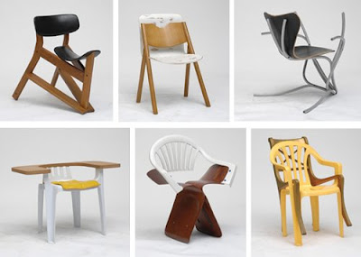 Martino Gamper Created A Project Called 100 Chairs In 100 Days And Its 100  Ways In Which He Made New Chairs From Parts Of Discarded And Donated Chairs.
