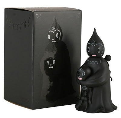 Kidrobot Black - 8 Inch Midnight Magi Vinyl Figure and Packaging by Gary Baseman
