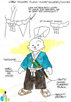 Dark Horse Comics - Usagi Yojimbo Plush Toy Concept Art by Stan Sakai