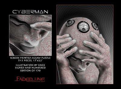 The Faded Line Limited Edition Jigsaw Puzzles - Cyberman by Emek