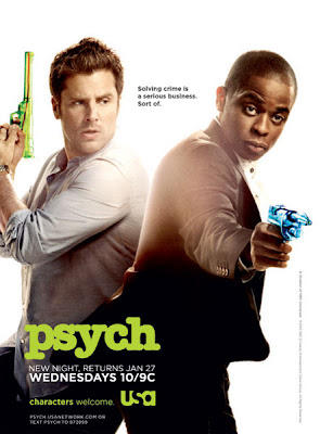 Psych Season 4.5 Television Promo Poster - Solving crime is a serious business. Sort of.