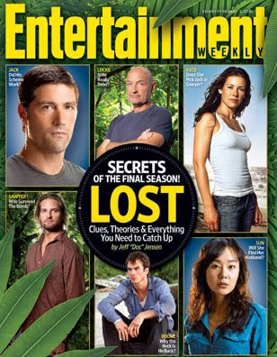 Entertainment Weekly Issue #1088 - Feb 5, 2010 Lost Cover featuring Matthew Fox, Terry O'Quinn, Evangeline Lilly, Josh Holloway, Ian Somerhalder & Yunjin Kim