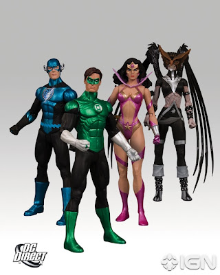 DC Direct Blackest Night Action Figures Wave 6 - Blue Lantern Flash, Green Lantern Hal Jordan, Star Sapphire Wonder Woman & Black Lantern Hawkgirl