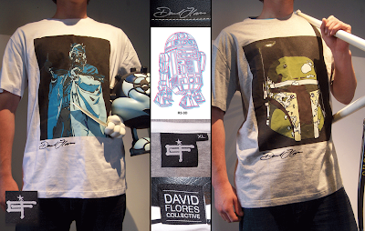 David Flores Collective Clothing Line - New Star Wars T-Shirts Featuring R2-D2, Boba Fett and a Tusken Raider