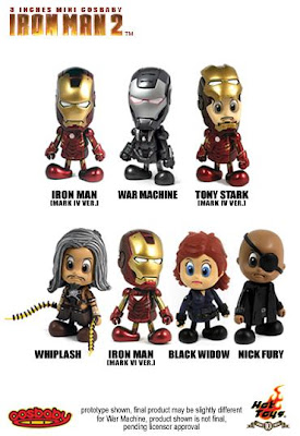 Iron Man 2 CosBaby 3 Inch Vinyl Figures by Hot Toys