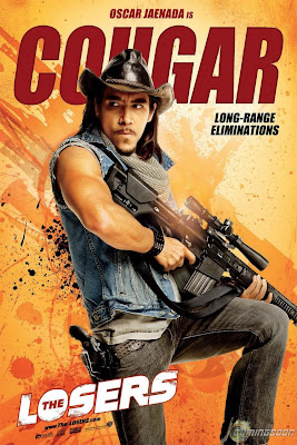 The Losers One Sheet Character Movie Posters - Oscar Jaenada is Cougar