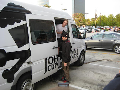 Johnny Unloading The Johnny Cupcakes Suitcase Tour Van