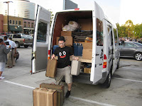 Unloading The Johnny Cupcakes Suitcase Tour Van
