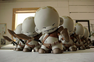 Pit Fighter Nibbles Custom Munny 10 Figure Set by Huck Gee