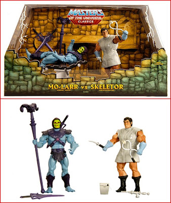 San Diego Comic-Con 2010 Exclusive Masters of the Universe Action Figure 2 Pack - Mo-Larr vs Skeletor