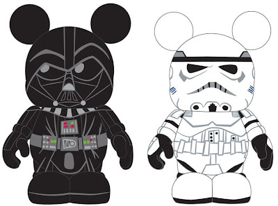 Disney Vinylmation Star Wars Series 1 Preview Artwork - Darth Vader and Stormtrooper