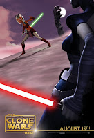 Star Wars The Clone Wars Ahsoka Tano vs. Asajj Ventress Movie Poster