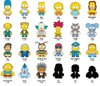 Kidrobot x The Simpsons Designer Vinyl Mini Figures Check List
