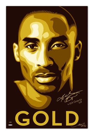 The Blot Says Upper Deck Kobe Bryant Gold Lithograph