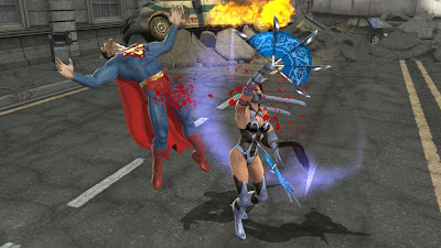 Mortal Kombat vs. DC Universe Screenshots - Superman vs. Kitana