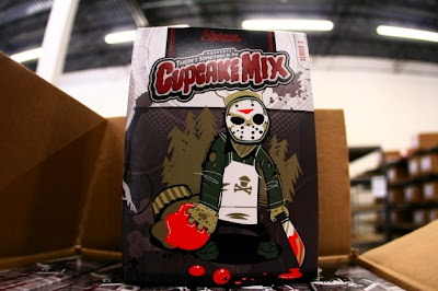 Johnny Cupcakes - There's Something In The Cupcake Mix Limited Edition Halloween T-Shirt Series - Chef Vorhees T-Shirt Box