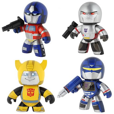 Transformers Mighty Muggs Wave 1 - Optimus Prime, Megatron, Bumblebee and Soundwave