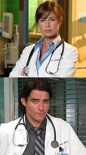 ER - Maura Tierney as Dr. Abby Lockhart and Goran Visnjic as Dr. Luka Kovac
