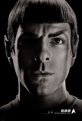 Star Trek Black and White Character Movie Posters - Zachary Quinto as Spock