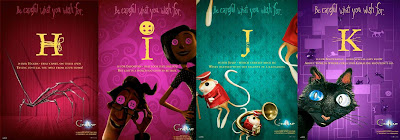Coraline Alphabet Promo Movie Posters - H, I, J, K