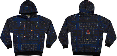 Pac-Man Arcade Hooded Sweatshirt Front and Back