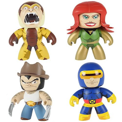 Marvel Legends Mighty Muggs Wave 6 - Sabretooth, Phoenix (Jean Grey), Logan (Wolverine) & Cyclops